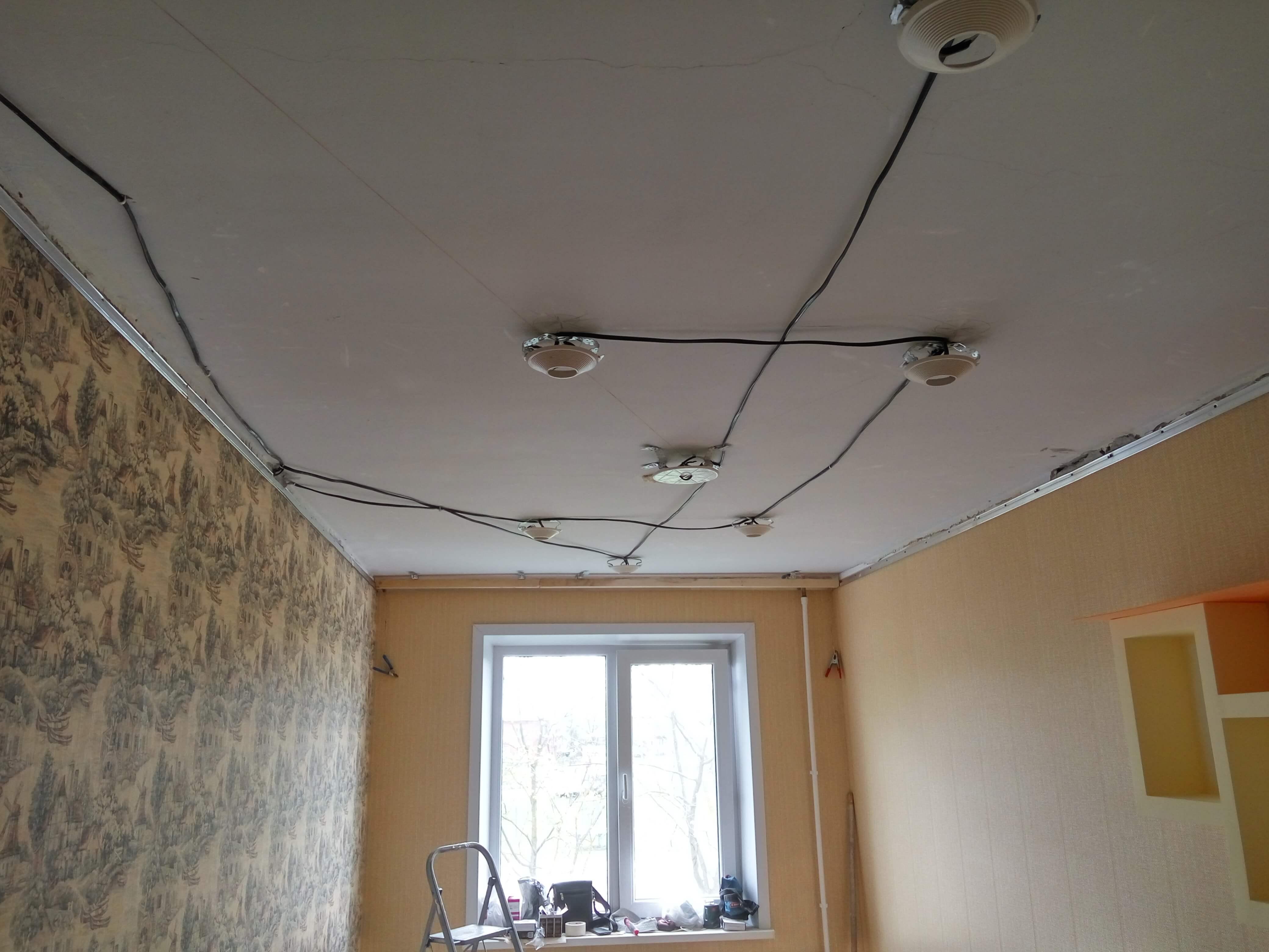 декор для как протянуть провод над натяжным потолком фото социальных сетях анна